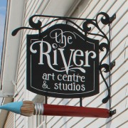 River Art Centre signage