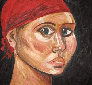 Self-portrait; Emily LeMesurier