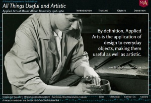 All Things Useful and Artistic a virtual exhibit by Owens Art Gallery.