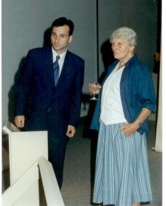 Nel Oudemans and Premier Bernard LordNel Oudemans et premier ministre Bernard Lord