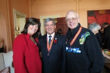 2013_03 -Freeman Patterson with Lt Governor Graydon Nicholas and Kathryn McCarroll after presentation ceremony for Order of New Brunswick