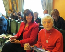 April 2013 Strathbutler artist Kathy Hooper and Kathryn McCarroll attend Patterson ceremony at Government House.