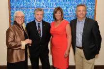 From left to Right - Louise Imbeault, Chair of SHMF; Herménégilde Chiasson, Strathbutler artist 2017; Kathryn McCarroll, Director of SHMF; and René Légère, Directeur Centre culturel Aberdeen