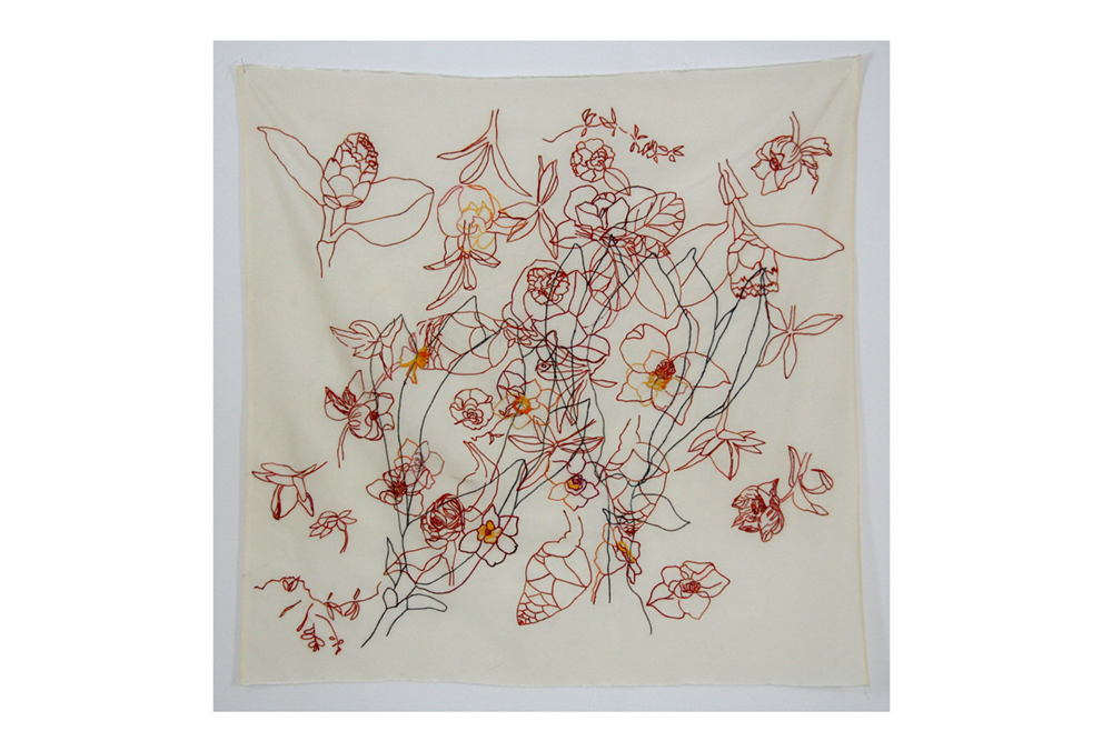 Drawings on silk III (2008 80x80cm), Anna Torma