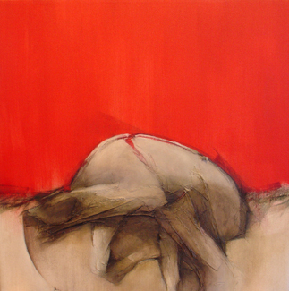 Jetsam Red Tide 3 (painting) by Suzanne Hill