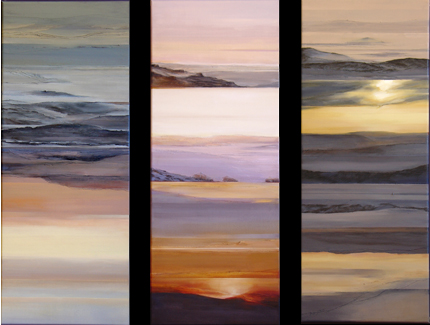 Lost Horizon Series 1, 2, 3 (painting) by Suzanne Hill